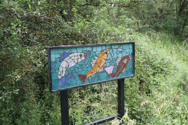 Mosaic by the footpath
