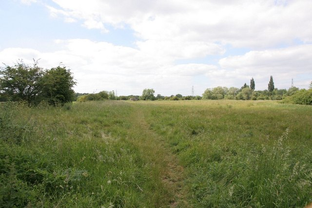 Footpath across the field