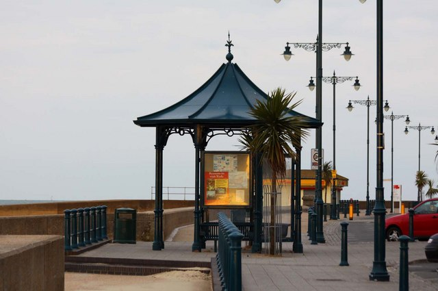 A shelter on the promenade