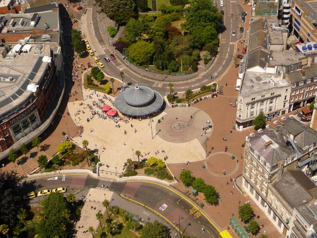 Bournemouth: The Square from above