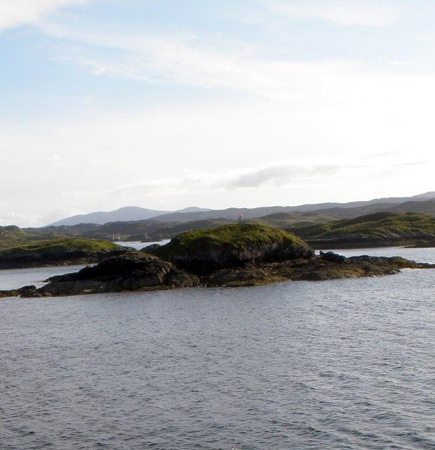 Dun Corr Mor from the M.V. Hebrides