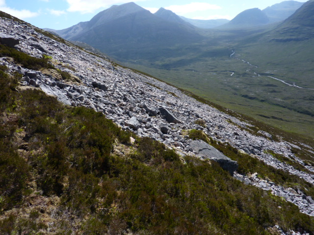 Scree slope of Druim Gruidaigh