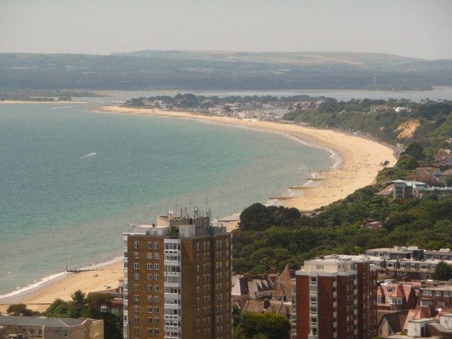 Sandbanks: view from the Bournemouth balloon