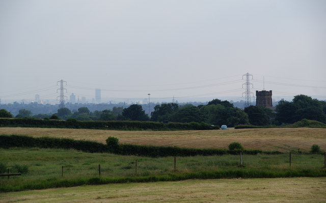 St John's Thornham, grass fields and Manchester City Centre
