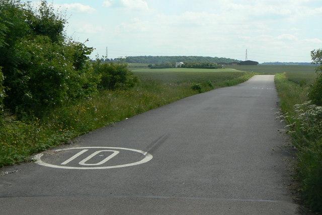 New road to Barn Farm