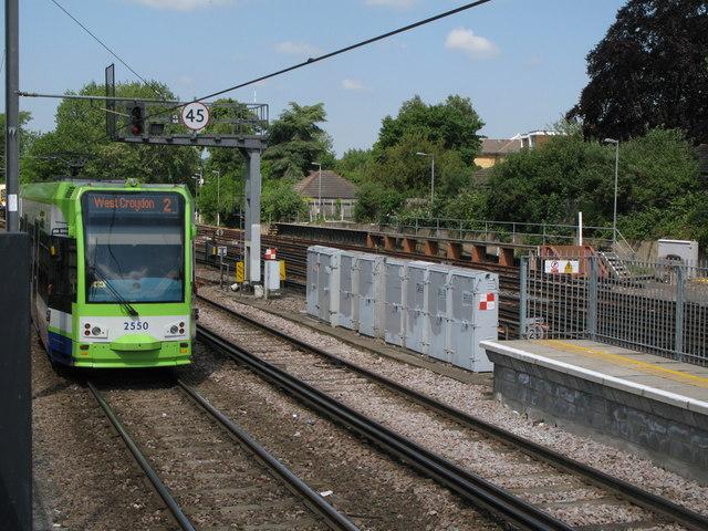 Tram near Beckenham Junction Station