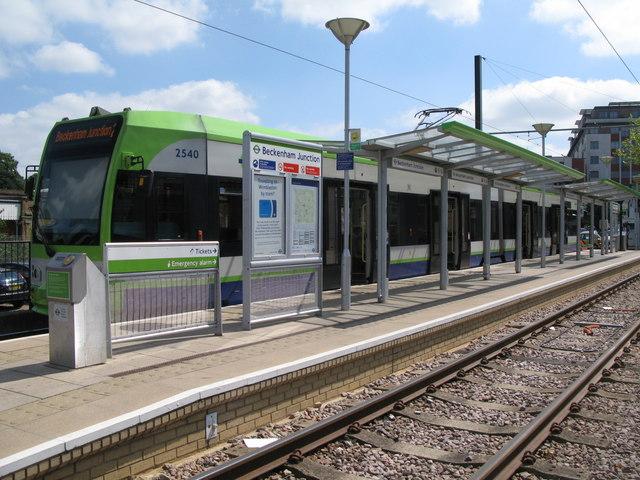 Tram at Beckenham Junction Tram Station