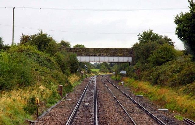 The bridge over the railway at Abbotswood