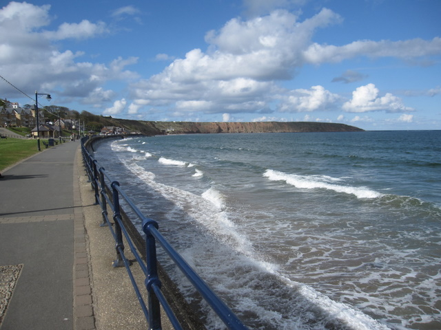 High tide at Filey