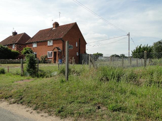 Footpath beside houses