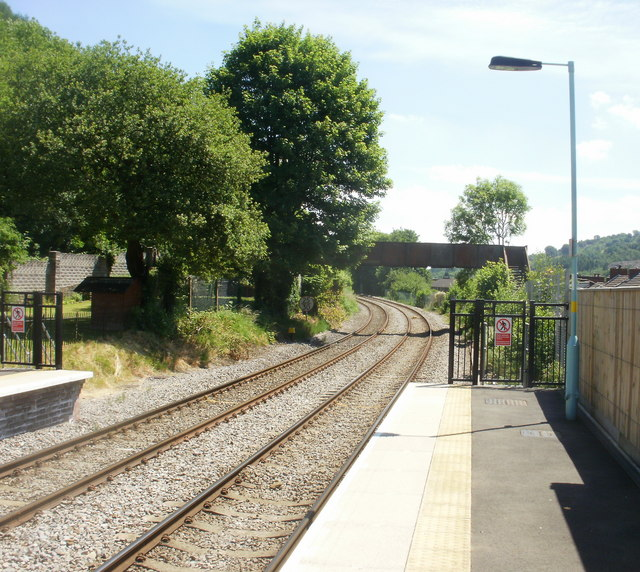 The view SE from Crosskeys railway station