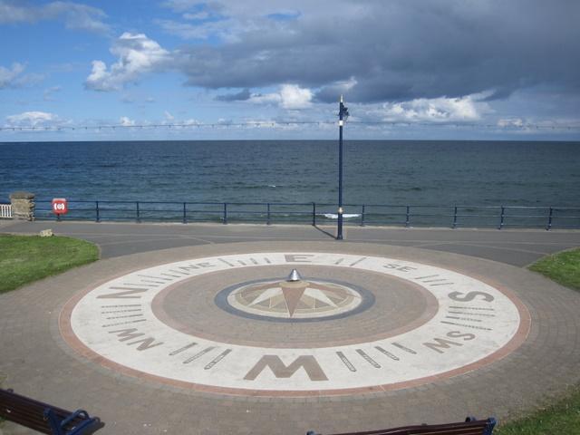 Compass on Filey Promenade