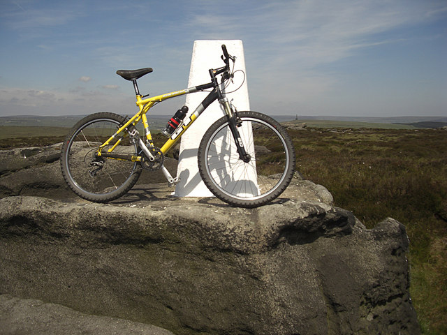 Trig pillar and bicycle