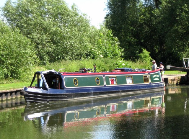 "Narrowboat ""Adagio"" near Pershore Lock, River Avon"