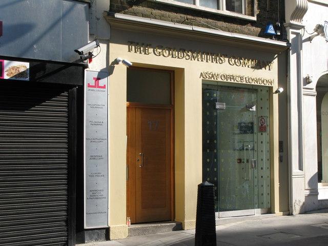The Goldsmiths Company, 17 Greville Street, EC1