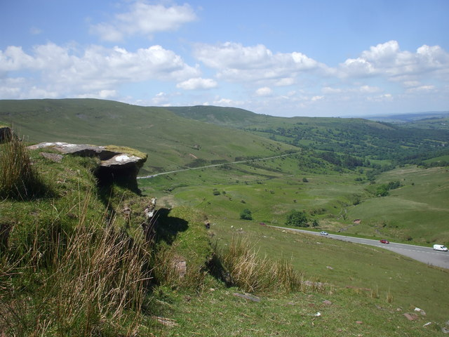 Looking down on the A470