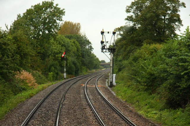 The railway lines to Worcester