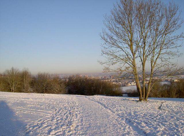 Snowy footpath to Brislington
