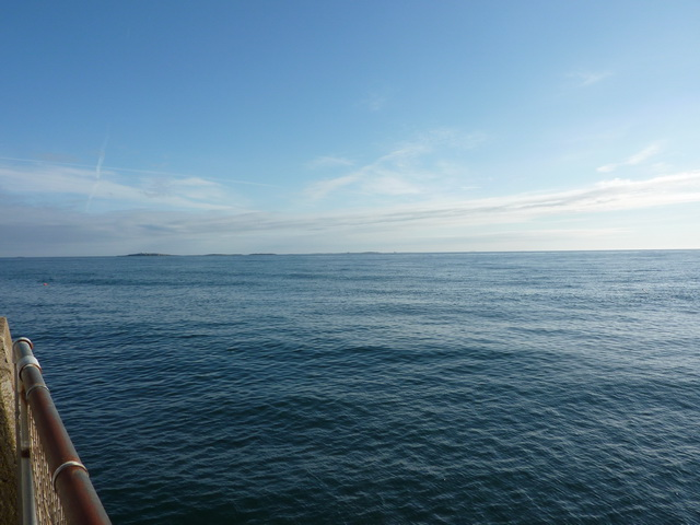 Looking towards the Farne Islands from Seahouses Harbour