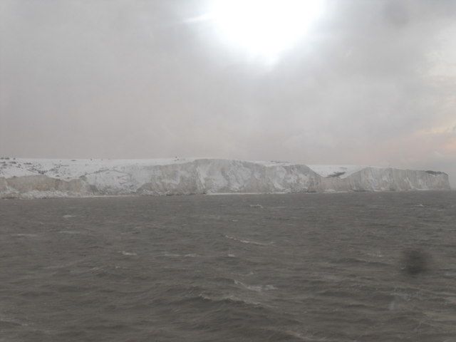 Very White Cliffs of Dover - Fan Point in a Blizzard