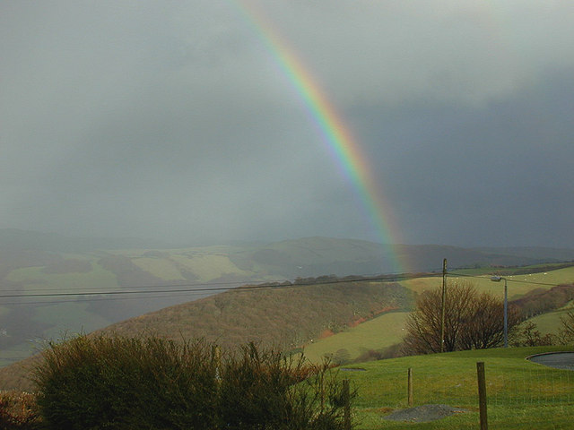 Rainbow over Pisgah