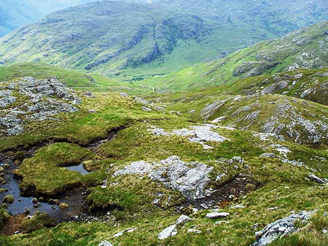 Rocky outcrops on the west of Sgurr an Utha