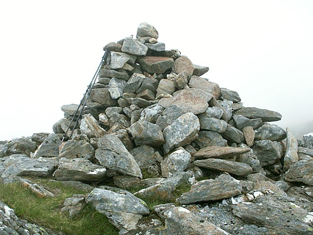 Summit cairn on Sgurr an Utha