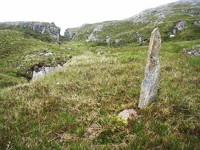Stone in moorland south of Sgurr an Utha