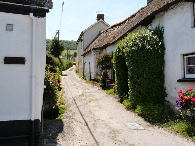 Cottages on Pathdown Lane, Croyde