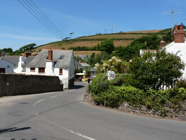 Croyde, where Georgeham Road becomes St. Mary's Road
