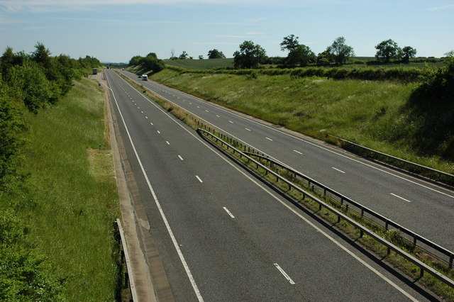 The A46 at Wixford
