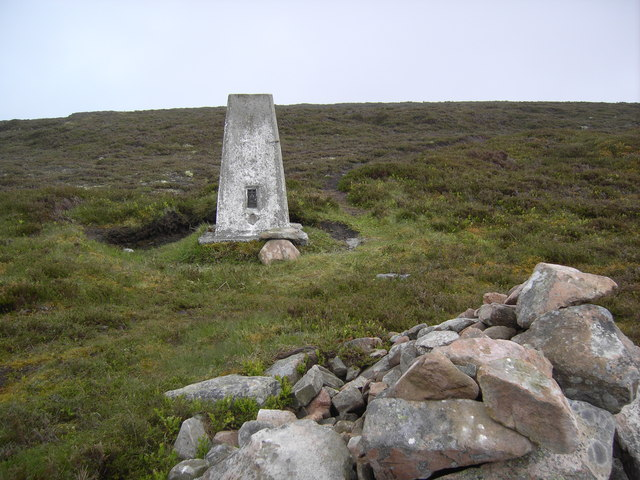 Trig point on Little Conval