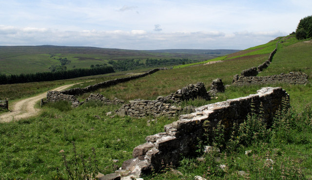 Ruin With Waskerley Valley