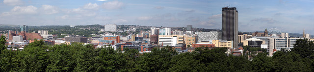 Sheffield City Centre Panorama