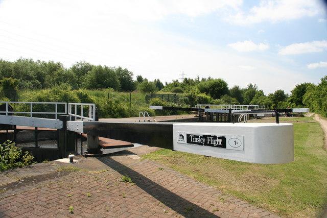Lock, Sheffield Canal