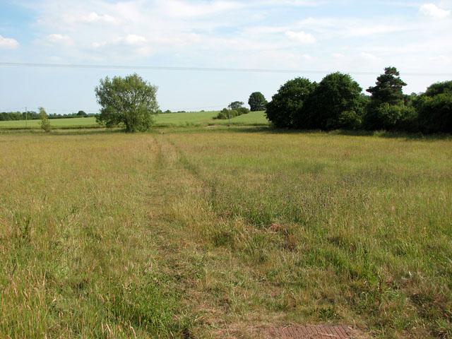 Public footpath south of Hill Farm, Cookley