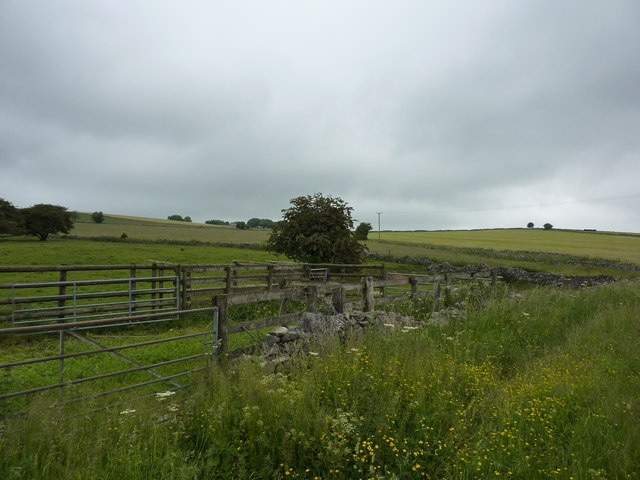 Sheep pens by the road to Parwich