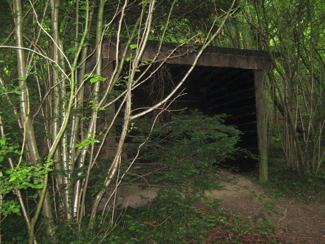 Shelter within Yorketts Banks