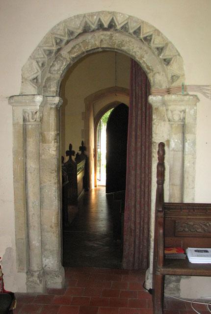 St Michael's church in Cookley - Norman north doorway