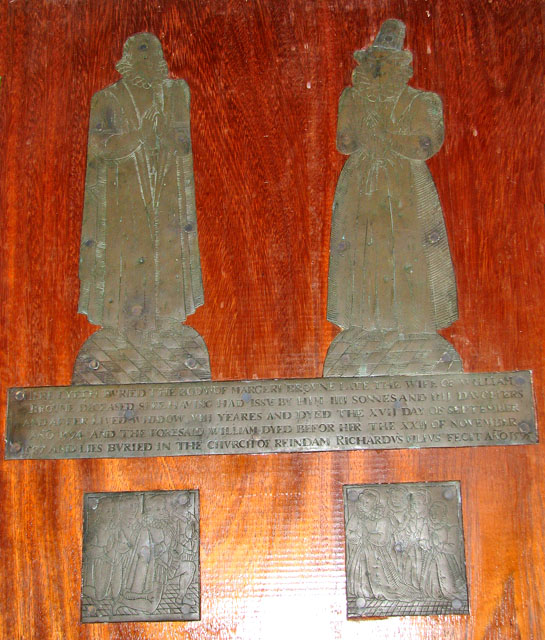 St Michael's church in Cookley - figure brasses