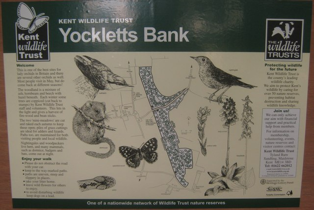 Yockletts Bank Nature Reserve Information Board