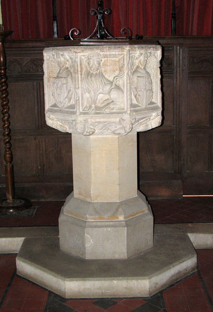 St Michael's church in Cookley - baptismal font