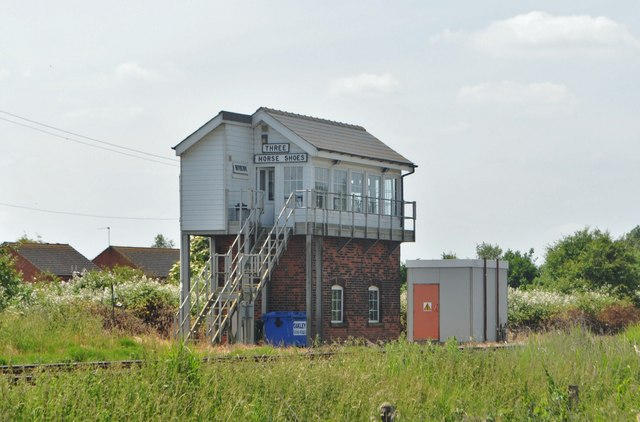 Three Horse Shoes Junction Signal Box