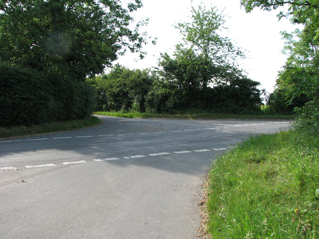 Staggered junction by Cookley Green