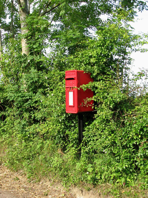 Postbox in the hedge by Cookley Green