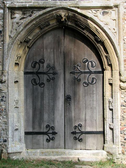 St Mary's church in Cratfield - west doorway