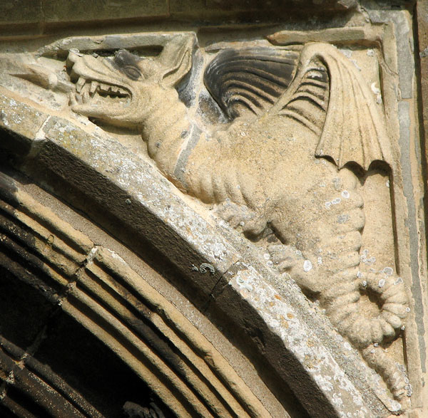St Mary's church in Cratfield - west doorway (detail)