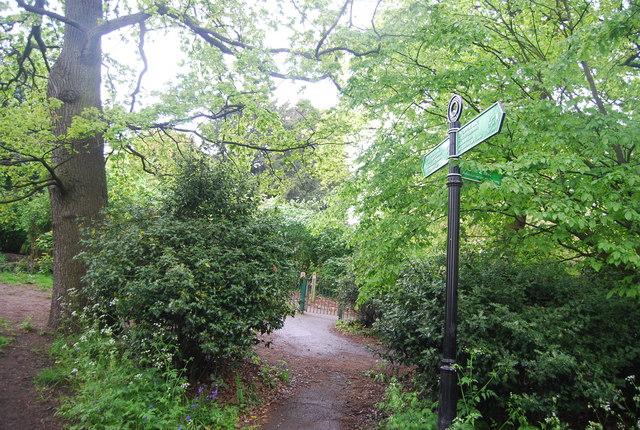 Capital Ring finger post, Norwood Grove