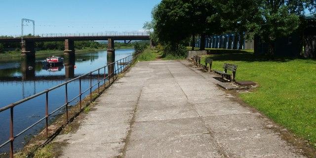 Riverside walkway