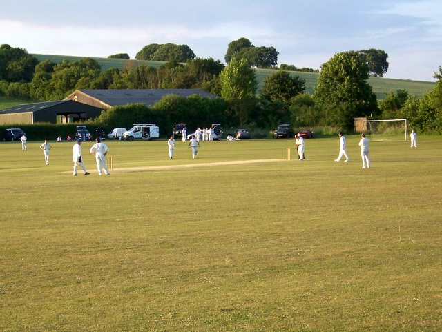 Coming to the crease, Bishopstone